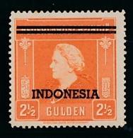 Nederlands Indië / Indonesia - 1948 - Indonesia Opdruk 15ct - Fl2,50 Unused MH/MNH - Indes Néerlandaises