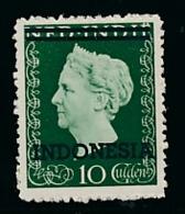 Nederlands Indië / Indonesia - 1948 - Indonesia Opdruk Op Fl10 Wilhelmina Type Hartz - Postfris / MNH - Niederländisch-Indien