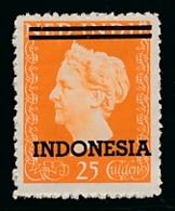 Nederlands Indië / Indonesia - 1948 - Indonesia Opdruk Op Fl25 Wilhelmina Type Hartz - Postfris / MNH - Nederlands-Indië