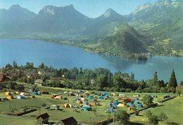 TALLOIRES - Camping, Au Fond Duingt Et Le Massif Des Bouges - Talloires