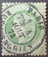 DF40266/865 - CERES N°53 - LUXE - SUPERBE CàD Central De PARIS Rue D'ENGHIEN Du 4 AOÛT 1873 - 1871-1875 Cérès