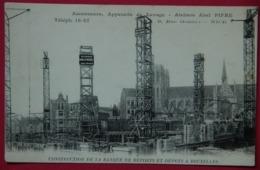 BELGIQUE BRUXELLES CHANTIER CONSTRUCTION ASCENSEURS PUBLICITE - Autres