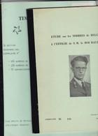 Belgique : 2 Etudes Sur Timbres A L Effigie De  BAUDOUIN  Par Borgniet 24 Pages Et Huberty 26 Pages - Handboeken