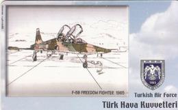 TURKEY - F- 5B Freedom Fighter 1965- (Aircraft) , Tirage 200,000 , 50 Unit ,used - Türkei