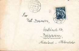 TCHECOSLOVAQUIE. N°757A De 1954 Sur Enveloppe Ayant Circulé. Tourneur. - Fabbriche E Imprese