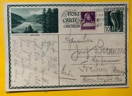 9592 - Entier Postal Illustration Davos  Genève 22.07.1930 - Enteros Postales