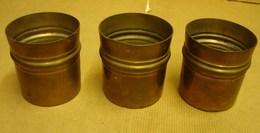 Lot. 1216. Trois Supports En Laiton Pour Haut Verre - Coppers