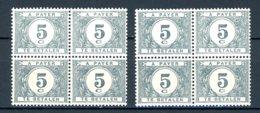 BE   TX 32 - 32a    XX    ---    Les Deux Nuances En Blocs De 4... - Briefmarken