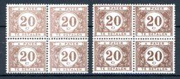 BE   TX 34 - 34a    XX    ---    Les Deux Nuances En Blocs De 4... - Briefmarken