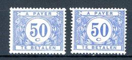 BE   TX 38 - 38a    XX    ---    Les Deux Nuances Bien Marquées... - Briefmarken