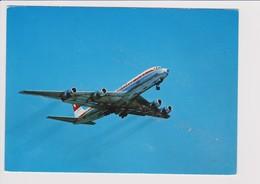 Vintage Rppc Swissair Douglas Dc-8 Aircraft - 1919-1938: Entre Guerres