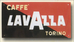 TARGA PUBBLICITARIA - CAFFE' LAVAZZA - TORINO (cm. 29,00 X Cm. 16,00) - Anni '50 - Caffè & Tè