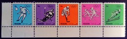 Manama 1972 Sport Jeux Olympiques Olympic Games Football Soccer Ski Hockey Athlétisme Mi 1200-1204 ** MNH - Manama