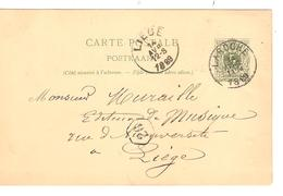 REF78/ Entier CP 13B C.Laroche 14/Avril/11-M/1889 > Liège C.d'arrivée - Entiers Postaux