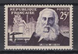 France. 1955: Y&T N° 1016 **, MNH. Cote Y&T 2020 : 4 € - France