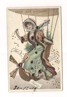 FEMME ELEGANTE DANS BALLON  (Montgolfière) -- STRASS Et PAILLETTES - - Women