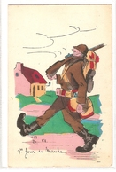 CPH 653 , OLD POSTCARD , HUMOR FANTASY , Signed HMB 191 - Humour