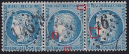 N°60A Bande De 3 97A2 (zéro) 98A2 (Suarnet67) 99A2, TB Et Rare Avec Le 997A2 Qui Est Un Zéro - 1871-1875 Cérès