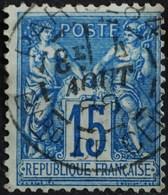 -Sage N°90 Type Ll O (.CAD) PARIS BARD DE CLICHY 4 AOUT 1888. - 1876-1898 Sage (Type II)