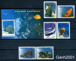 Cuba 2015 / Marine Life Fish Whales Turtles Pinguins MNH Peces Tortugas Ballenas Aves / C9900  10-5 - Vie Marine