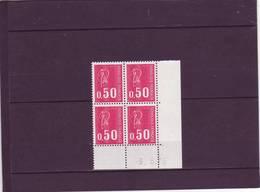 N° 1664 - 0,50F BEQUET - 3PHO - 39° Tirage Du 24.5.76 Au 8.6.76 -3.06.1976 - - Dated Corners