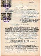 1958 YUGOSLAVIA, SLOVENIA, TREBNJE, SALE CONTRACT, 4 REVENUE STAMPS - 1945-1992 Socialist Federal Republic Of Yugoslavia
