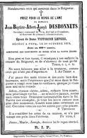 Souvenir Mortuaire DESBONNETS Jean (1815-1875) Mort à PECQ –Secrétaire Communal De Pecq, Bailleul & Esquelmes - Images Religieuses