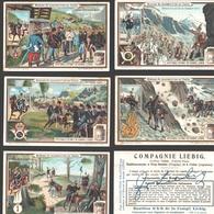 Liebig - Vintage Chromos - Series Of 6 / Série Complète - Scènes De Manoeuvres En Italie - Français - Italia - Liebig