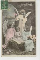 """ENFANTS - LITTLE GIRL - MAEDCHEN - Jolie Carte Fantaisie Fillettes Anges Enfant Jésus De """"Joyeux Noël """" - Altri"""