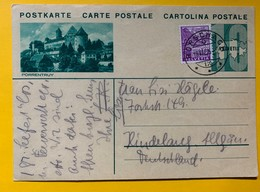 9599 - Entier Postal Illustration Porrentruy Rorschach 19.08.1935 - Enteros Postales