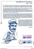 """"""" JEAN-BAPTISTE CHARCOT """" Sur Document Philatélique Officiel De 2017  N° YT 5140. Parfait état DPO - Polar Explorers & Famous People"""