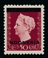 Nederlands Indië / Indonesia - 1948 - Indonesia Opdruk Op 50 Cent Met Ontbrekende I Van INDONESIA - Postfris / MNH - Nederlands-Indië