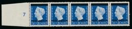 Nederlands Indië / Indonesia - 1948 - Indonesia Opdruk Op 20 Cent In Strip Van 5 Met 2 Plaatfouten - Postfris / MNH - Nederlands-Indië