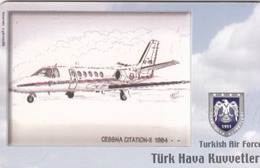 TURKEY - Cessna Citation-II 1984- (Aircraft) , Tirage 260,000 , 50 Unit ,used - Türkei