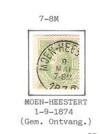REF79/ TP 30 C.Moen-Heestert 9/Mai/7-8M/1876 - 1869-1883 Leopold II