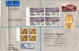 Postal History Cover. Kenya Uganda And Tanzania R Cover With Multiple Stamps - Kenya, Ouganda & Tanzanie