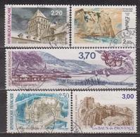 Cotes De Meuse, Etretat Par Delacroix - FRANCE - Abbatiale De Redon, Chateau D'Azay Le Rideau - N° 2462 à 2466 - 1987 - Used Stamps