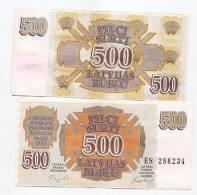 LATVIA Lettland LETTONIA 500 Rubles Roubles 1992 VF +++ RARE EX USSR RUSSIA - Lettonie