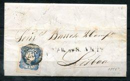 5440 - PORTUGAL - Mi.Nr. 6 Als EF Auf Brief Nach Lissabon - 1855-1858 : D.Pedro V