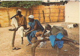 Gambia Postcard Sent To Denmark 27-2-1979 WWF Stamp (Gambian Elders Rest On The Bantaba) - Gambia