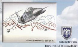 TURKEY - CF-104A Starfighter 1986-94 41 (Aircraft) , Tirage 225,000 , 100 Unit ,used - Türkei