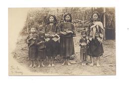 CARTE PHOTO ASIE -  POU LA -  FEMMES ET ENFANTS - - Laos