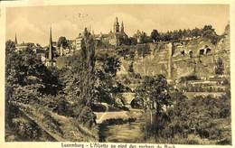 Luxemburg - L'Alzette Au Pied Des Rochers Du Bock (1919, Stenger & Co) - Luxemburg - Stad
