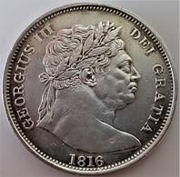 ½ Crown 1816 Great Britain George III *Plain Edge* AU / UNC - I. 1/2 Crown