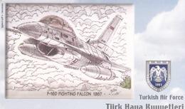 TURKEY - F-16D Fighting Falcon 1987- (Aircraft) , Tirage 540,000 , 50 Unit ,used - Türkei