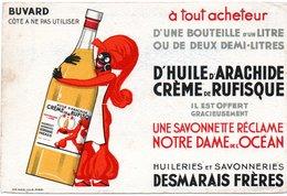 Buvard Huileries Savonneries Desmarais Frères. Huile D'arachide, Crème De Rufisque. - Buvards, Protège-cahiers Illustrés