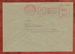 Brief, Absenderfreistempel, Harpener Bergbau, 20 Pfg, Dortmund 1950 (82904) - BRD