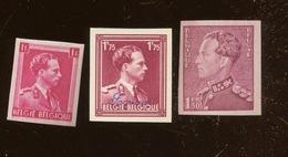 3 Val NON DENTELEES.  S.M. Le Roi Léopold III - 1934-1935 Leopold III