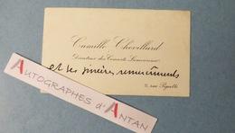 CDV Camille CHEVILLARD Compositeur&chef D'orchestre Né à Montmartre - Concerts Lamoureux - Carte De Visite - Chatou - Autogramme & Autographen