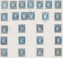 N°60 Lot De 25 Timbres, Dont 3 Neufs Sans Gomme, Une Paire Et Des Variétés, TB Dans L'ensemble. Cote : +++ 300 Euros, Pr - 1871-1875 Cérès